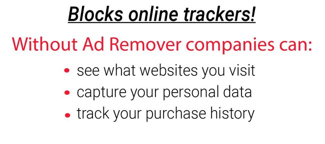 slide in slideshow informing user how activity trackers can track user behavior online