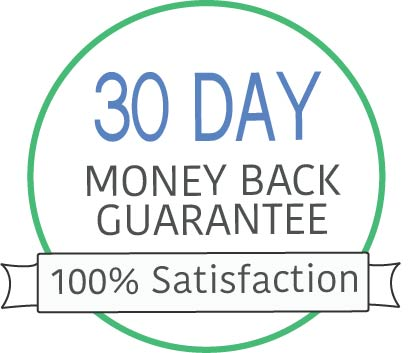 money back crest to display thirty day money back guarantee